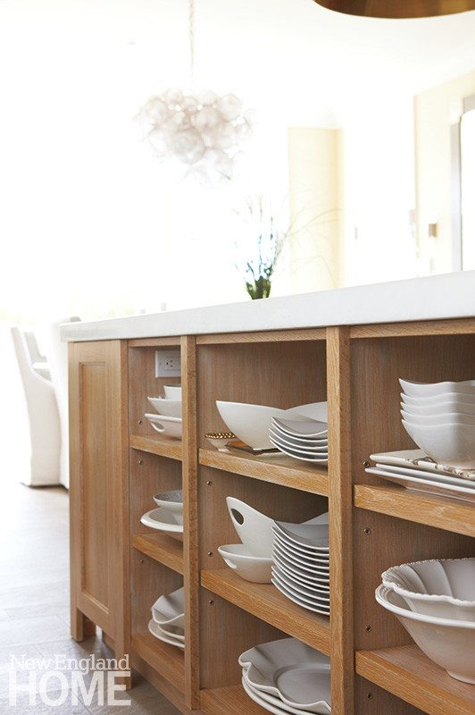 Contemporary Martha's Vineyard home kitchen island