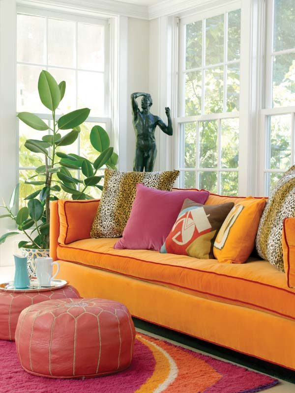 The vibrant hues make the sunroom Gallipoli's favorite space.