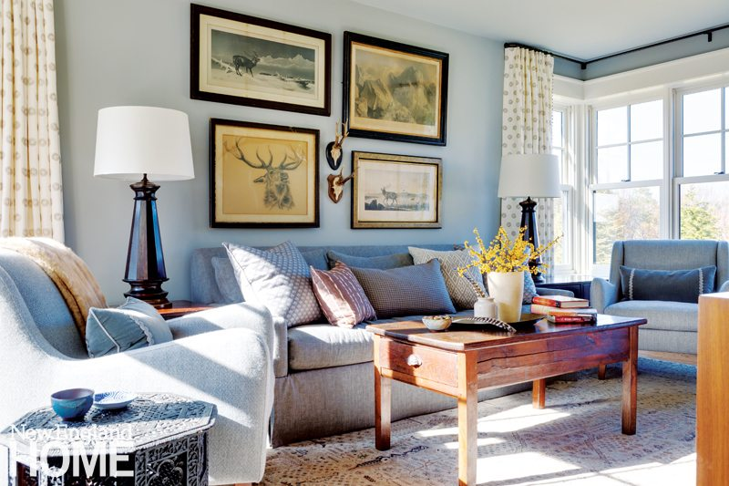 Living Room Furniture Nh a new hampshire farmhouse - new england home magazine