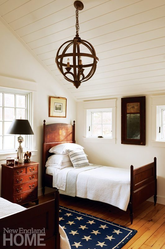 Colonial-Era Home Guest Bedroom