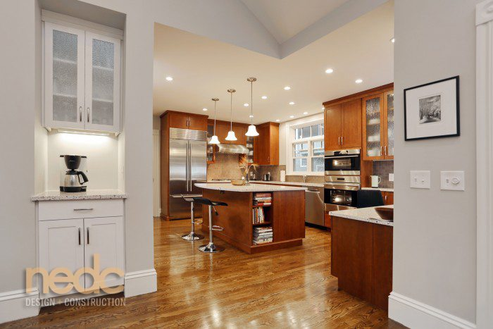 Kitchen Trends: New England Design and Construction Cabinets Saturated Wood Tones