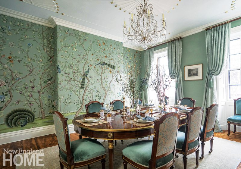 2017 trends and tastemakers new england home magazine - Trend wallpaper dining ...