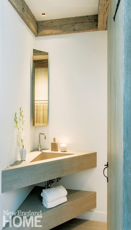Hutker Architects Small Powder Room