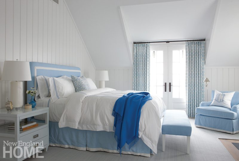 Blue and White Master Bedroom
