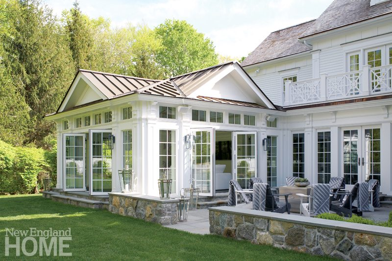 A fresh spin on a traditional colonial spec house new for What is a spec home