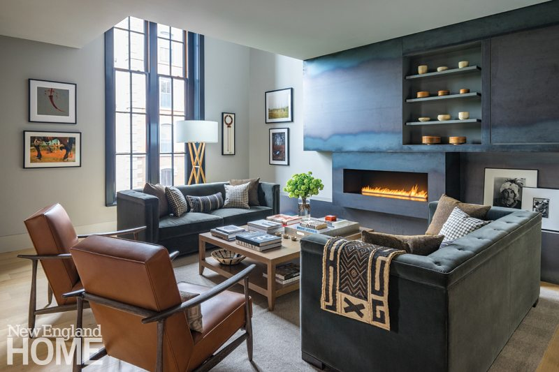 A Renovated Condo In Boston's South End New England Home Magazine Classy Living Room Boston Design