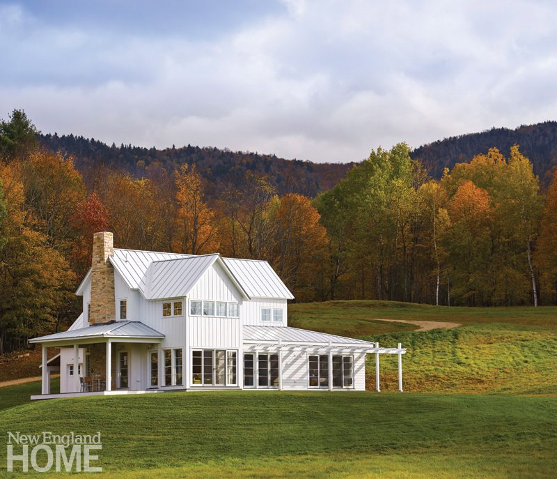 Contemporary classic in vermont new england home magazine for Traditional farmhouse style