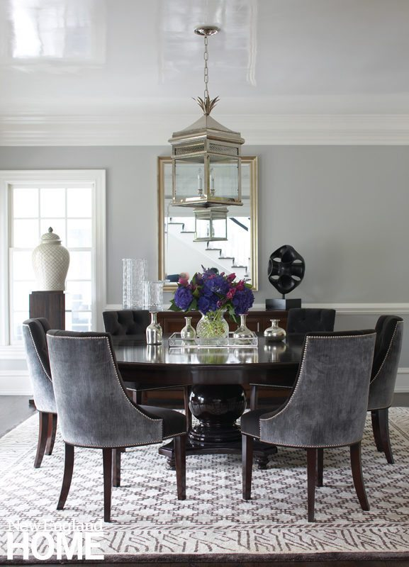 Ding room with custom table by Cynthia Roughan