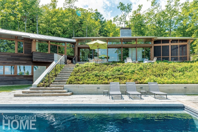 A Natural Landscape Design In The Berkshires New England Home