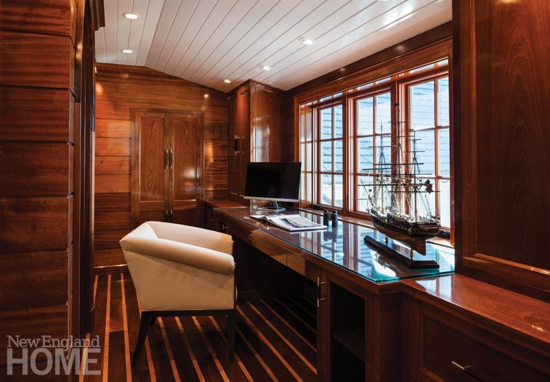Office with mahogany paneling