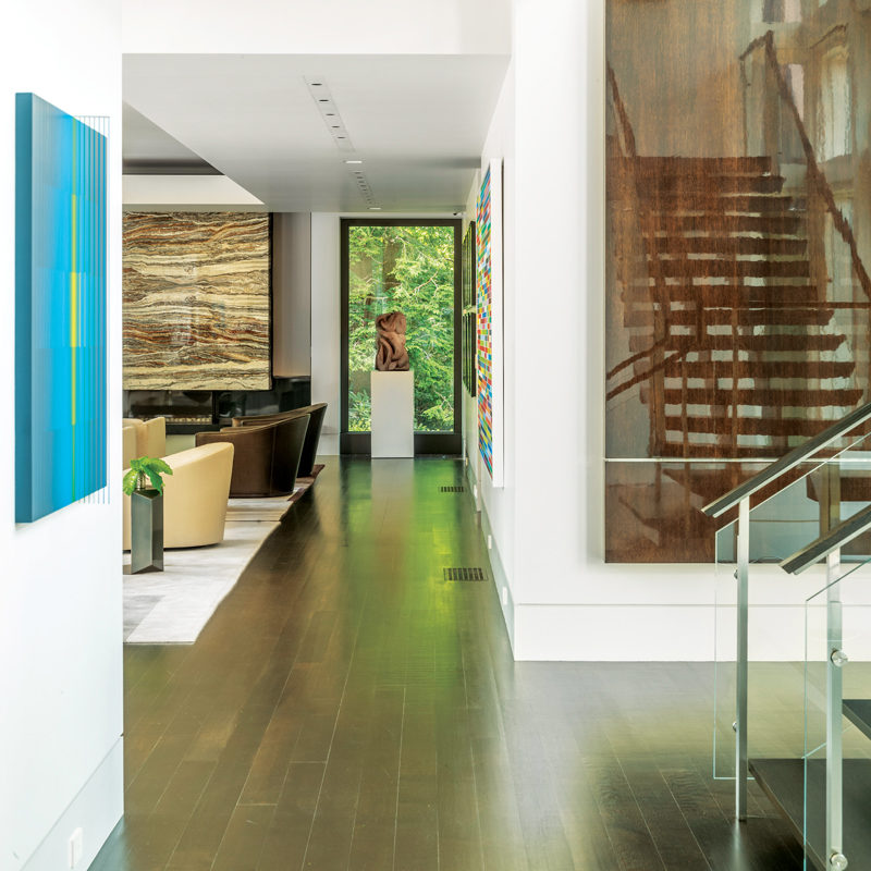 Contemporary entryway designed by Marcus Glysteen Architects